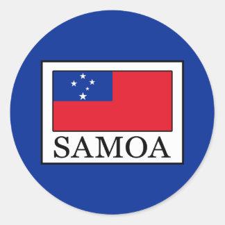 Sticker Rond Le Samoa