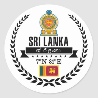 Sticker Rond Le Sri Lanka