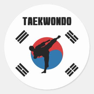 Sticker Rond Le Taekwondo