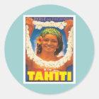 Sticker Rond Le Tahiti vintage