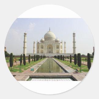 Sticker Rond Le Taj Mahal