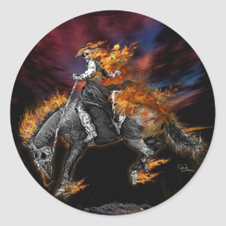 Sticker Rond Le Texas Ghost Rider