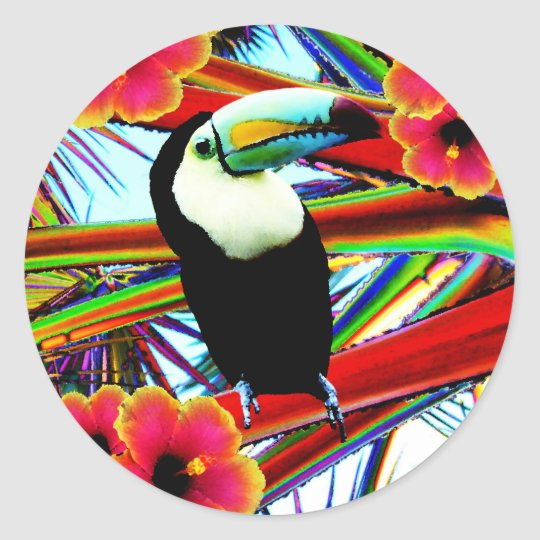 Sticker Rond Le toucan