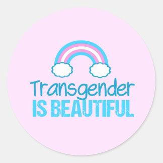 Sticker Rond Le transsexuel est beau