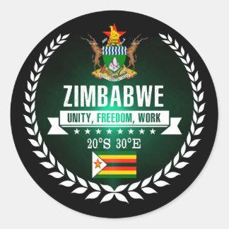 Sticker Rond Le Zimbabwe
