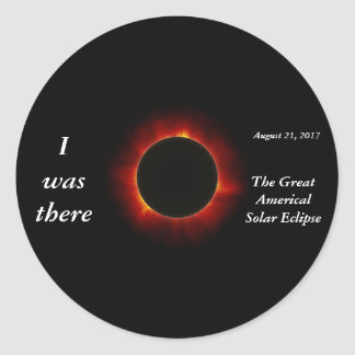 """Sticker Rond L'éclipse 2017 solaire """"j'étais là"""" édition"""