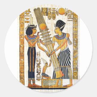 Sticker Rond L'Egypte antique 1