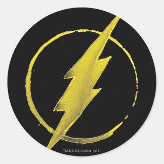 Sticker Rond L'emblème   jaune instantané de coffre