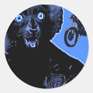Sticker Rond Lémur en cuir