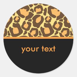 Sticker Rond Léopard