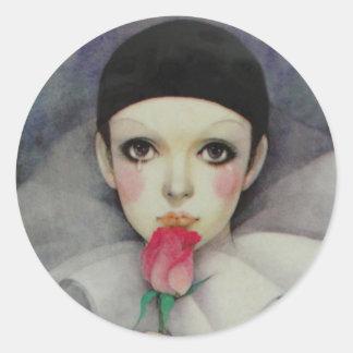 Sticker Rond Les années 1980 de Pierrot