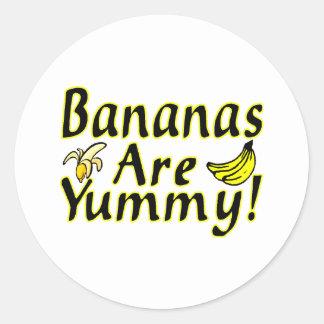 Sticker Rond Les bananes sont délicieuses