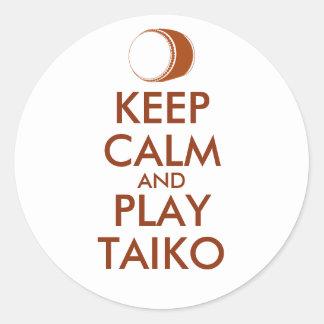 Sticker Rond Les cadeaux de Taiko gardent la coutume de tambour