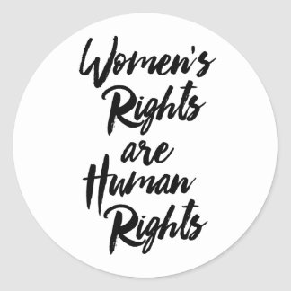 Sticker Rond Les droits de la femme sont des droits de l'homme