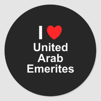 Sticker Rond Les Emirats Arabes Unis