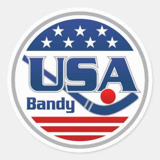 Sticker Rond Les Etats-Unis échangent l'autocollant