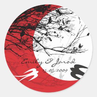 Sticker Rond Les hirondelles orientales cumulent deux emplois