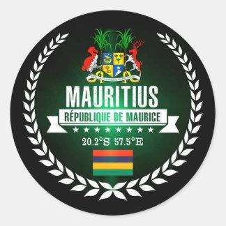 Sticker Rond Les Îles Maurice