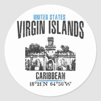 Sticker Rond Les Îles Vierges