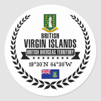 Sticker Rond Les Îles Vierges britanniques