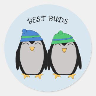 Sticker Rond Les meilleurs bourgeons de pingouin