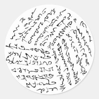 Sticker Rond Les mots sont magiques