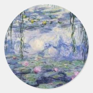 Sticker Rond Les Nympheas de Claude Monet (Water Lilly)
