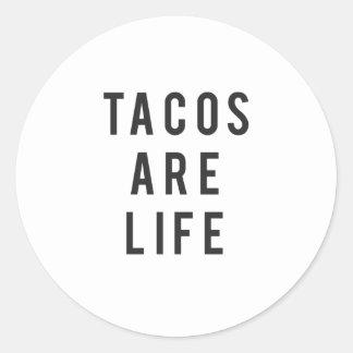 Sticker Rond Les tacos drôles sont copie de la vie