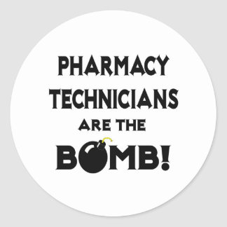 Sticker Rond Les techniciens de pharmacie sont la bombe !