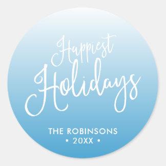 Sticker Rond Les vacances de vacances les plus heureuses de