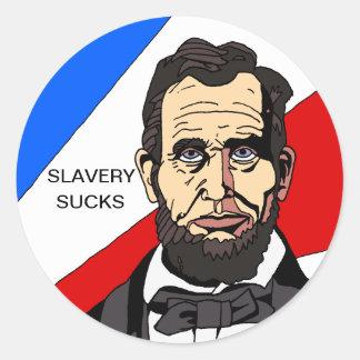 Sticker Rond L'esclavage suce l'autocollant