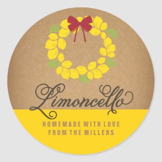 Sticker Rond L'étiquette de Limoncello, 3 s'avancent petit à