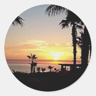 Sticker Rond lever de soleil dans l'autocollant de cabo