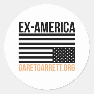 Sticker Rond L'Ex-Amérique a inversé le drapeau