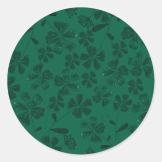 Sticker Rond lflowers verts