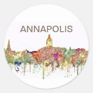 Sticker Rond L'horizon d'Annapolis le Maryland SG-S'est fané