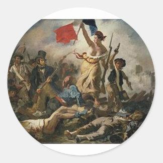 Sticker Rond Liberté menant les personnes