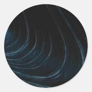 Sticker Rond Ligne d'écoulement onduleuse