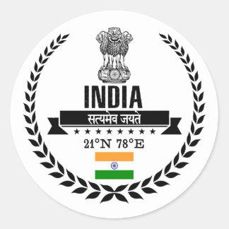 Sticker Rond L'Inde