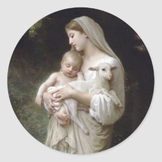 Sticker Rond L'Innocence William-Adolphe Bouguereau 1893