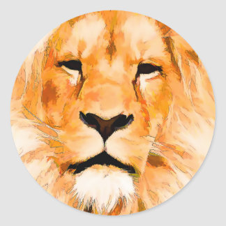 Sticker Rond lion