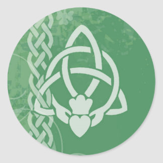 Sticker Rond L'Irlande Claddagh