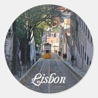 Sticker Rond Lisbonne