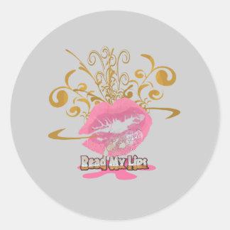 Sticker Rond Lisez mes lèvres