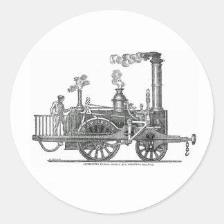 Sticker Rond Locomotive à vapeur tôt