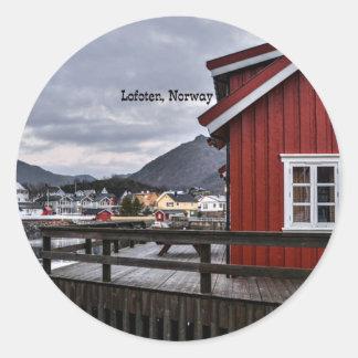 Sticker Rond Lofoten, Norvège