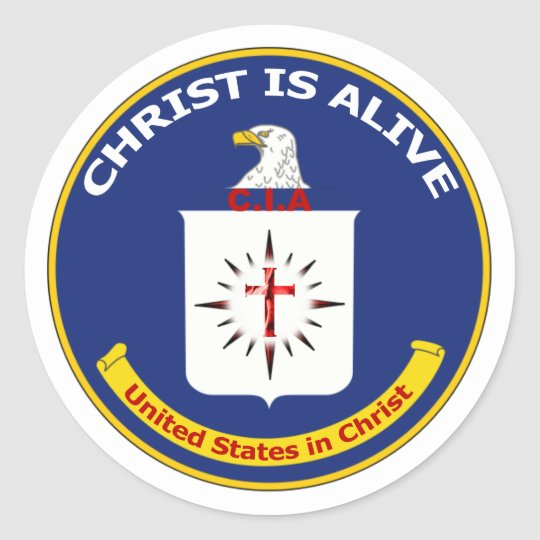 Sticker Rond Logo CIA