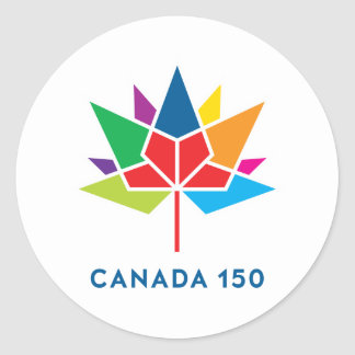 Sticker Rond Logo de fonctionnaire du Canada 150 - multicolore