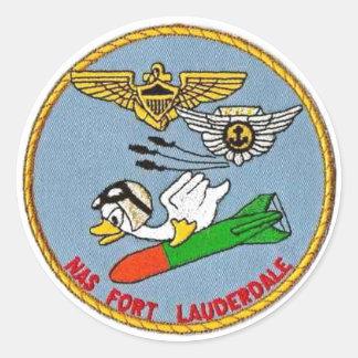 Sticker Rond Logo de Fort Lauderdale de NAS