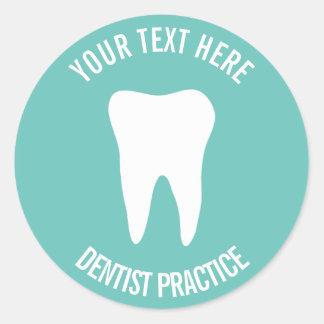 Sticker Rond Logo dentaire de dent d'art dentaire de bureau de